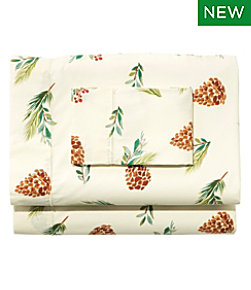 Evergreen Percale Sheet Collection